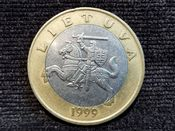 Lithuania, Two Litai 1999, VF, WE6368